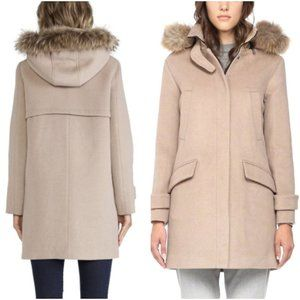 Soia and Kyo Annick Wool Blend Fur Trimmed Coat